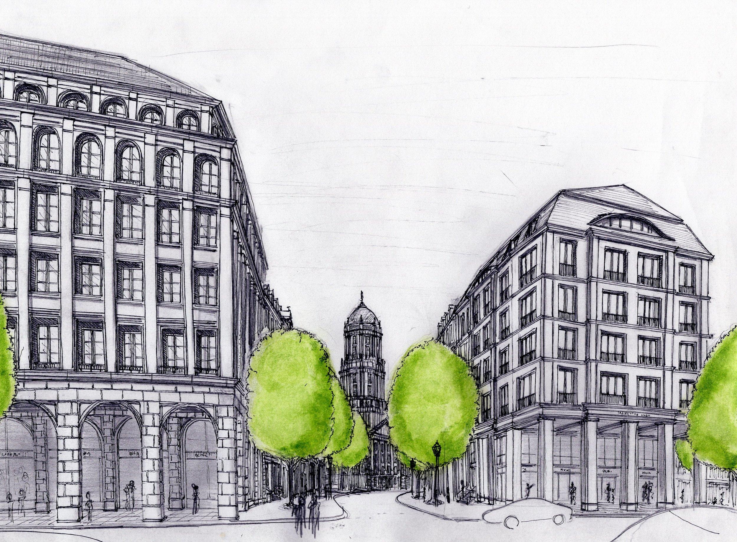 Berlin - Molkenmarktviertel - Blick von der Grunerstraße in die Jüdenstraße