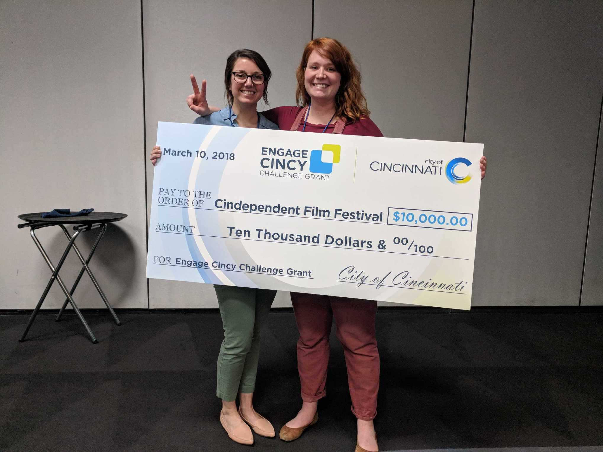 Angela Holman(L) and Allyson West(R) win Engage Cincy grant1.jpg