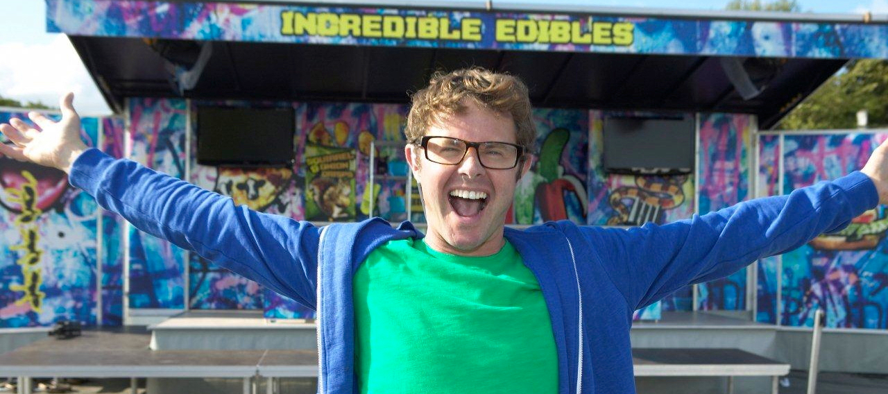 Incredible Edibles  -   BBC1 & CBBC 13 x 30minsThe naughtiest food show in the world. Rockets, blood, guts, bangs, cars on cranes and lots of explosions, all using food..Nominated for  Broadcast Best Children's Programme