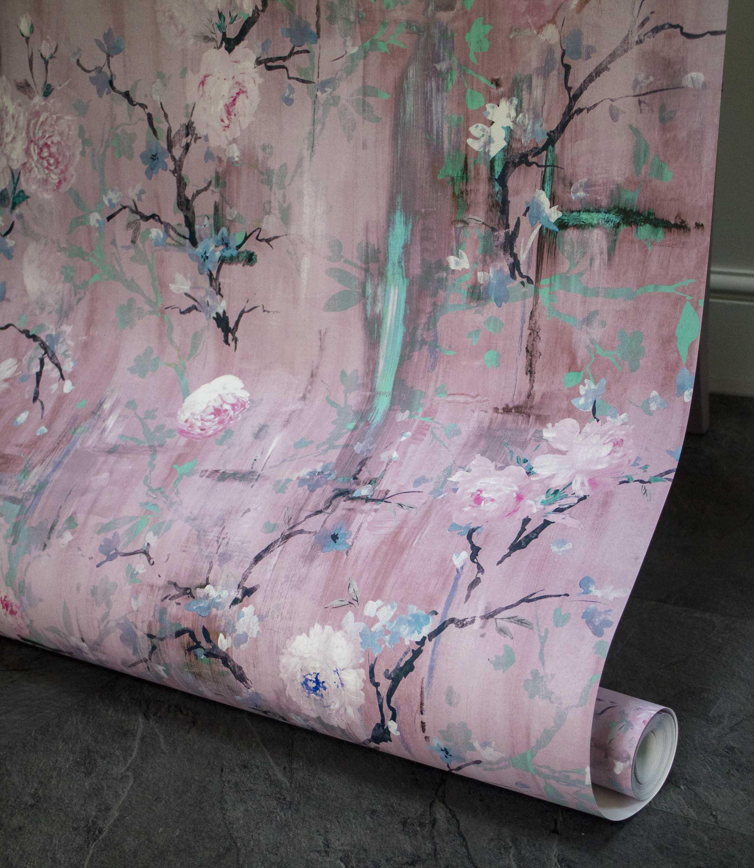 Rococo Pink Wallpaper
