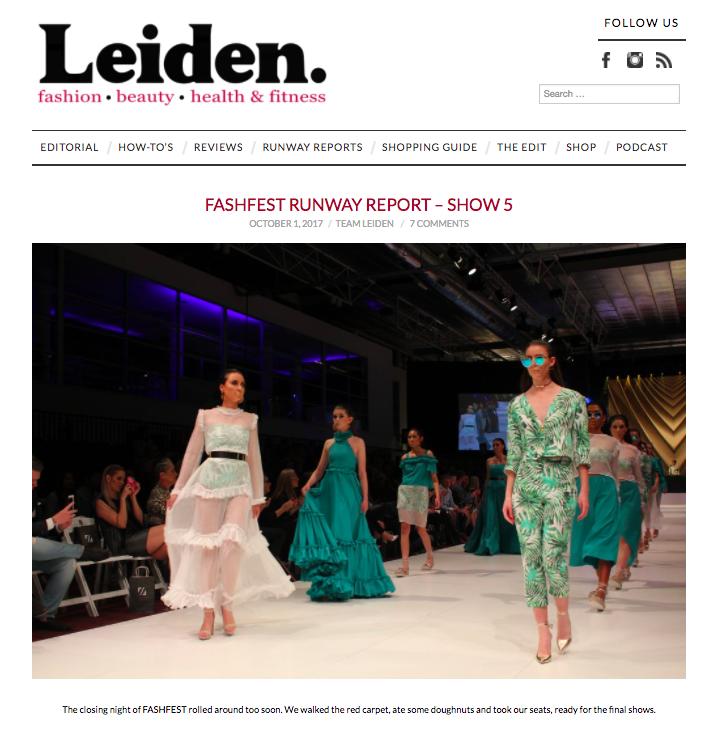 LEIDEN Fashfest Runway Report