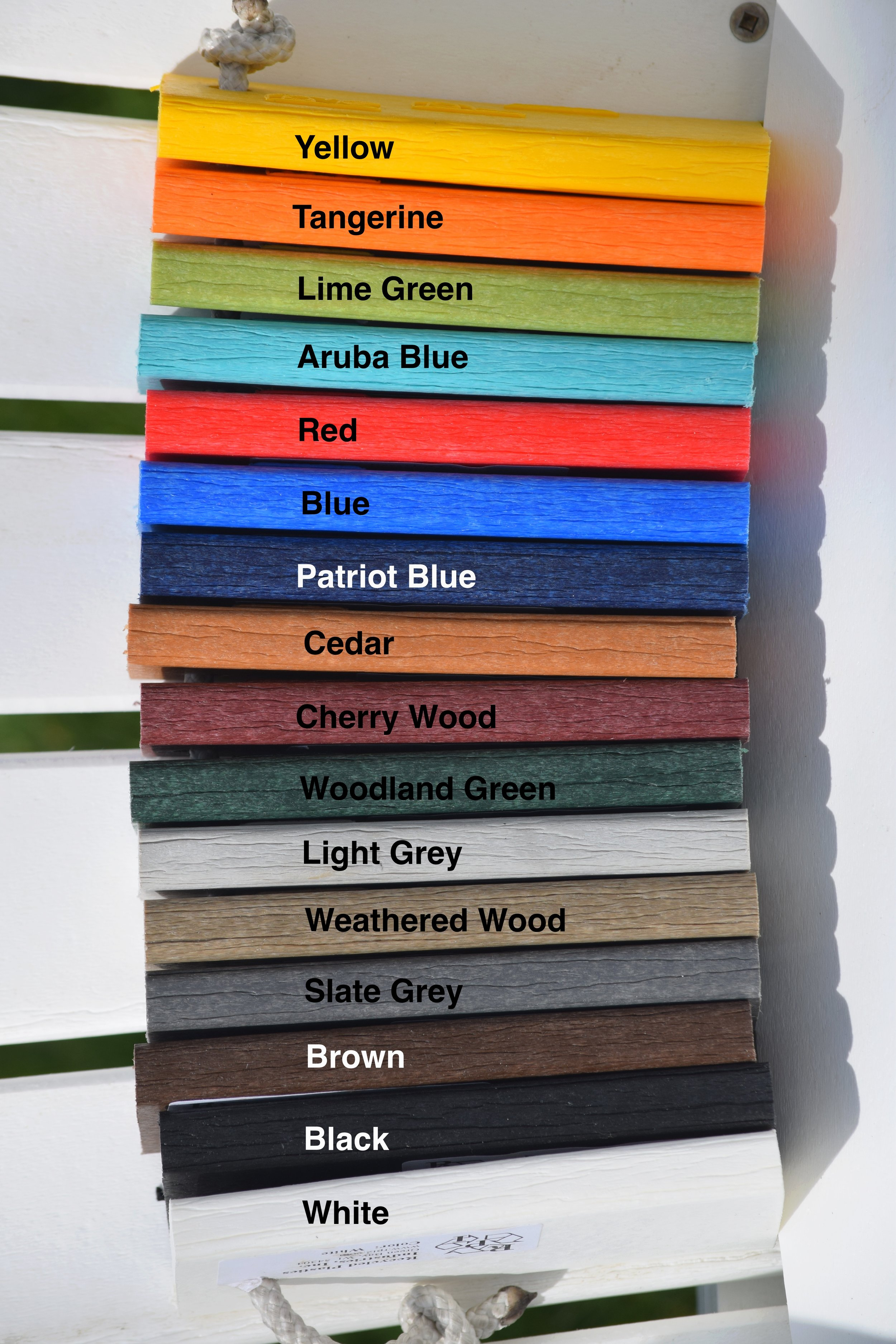 16 Color options keep your outdoor furniture as unique as you. -