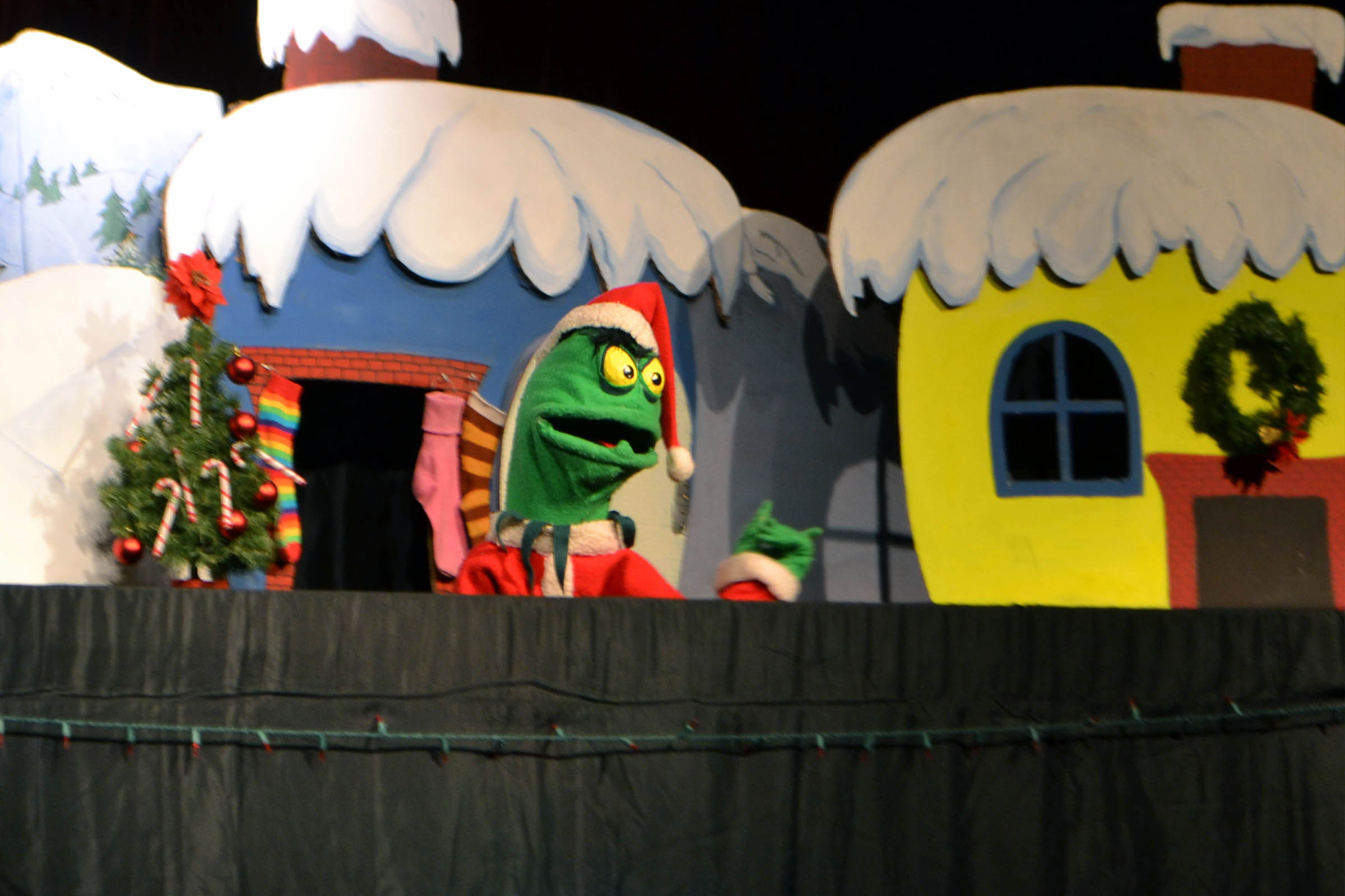 """The Grinch,"" peformed MDI's own Frogtown Mountain Puppeteers"