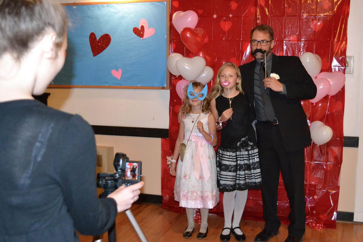 """The """"Photo Booth"""" at the 2017 dance proved to be a hit..."""