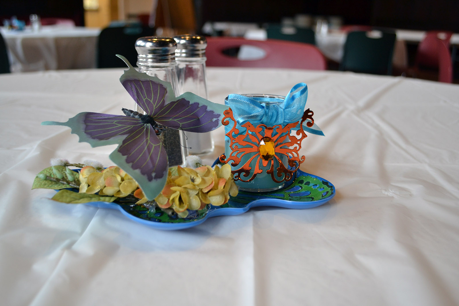 "Pat Foster modestly brushes off her centerpieces as just a hobby, but the creativity and level of detail she puts into ""prettying up"" each table throughout the season is amazing and truly appreciated!"