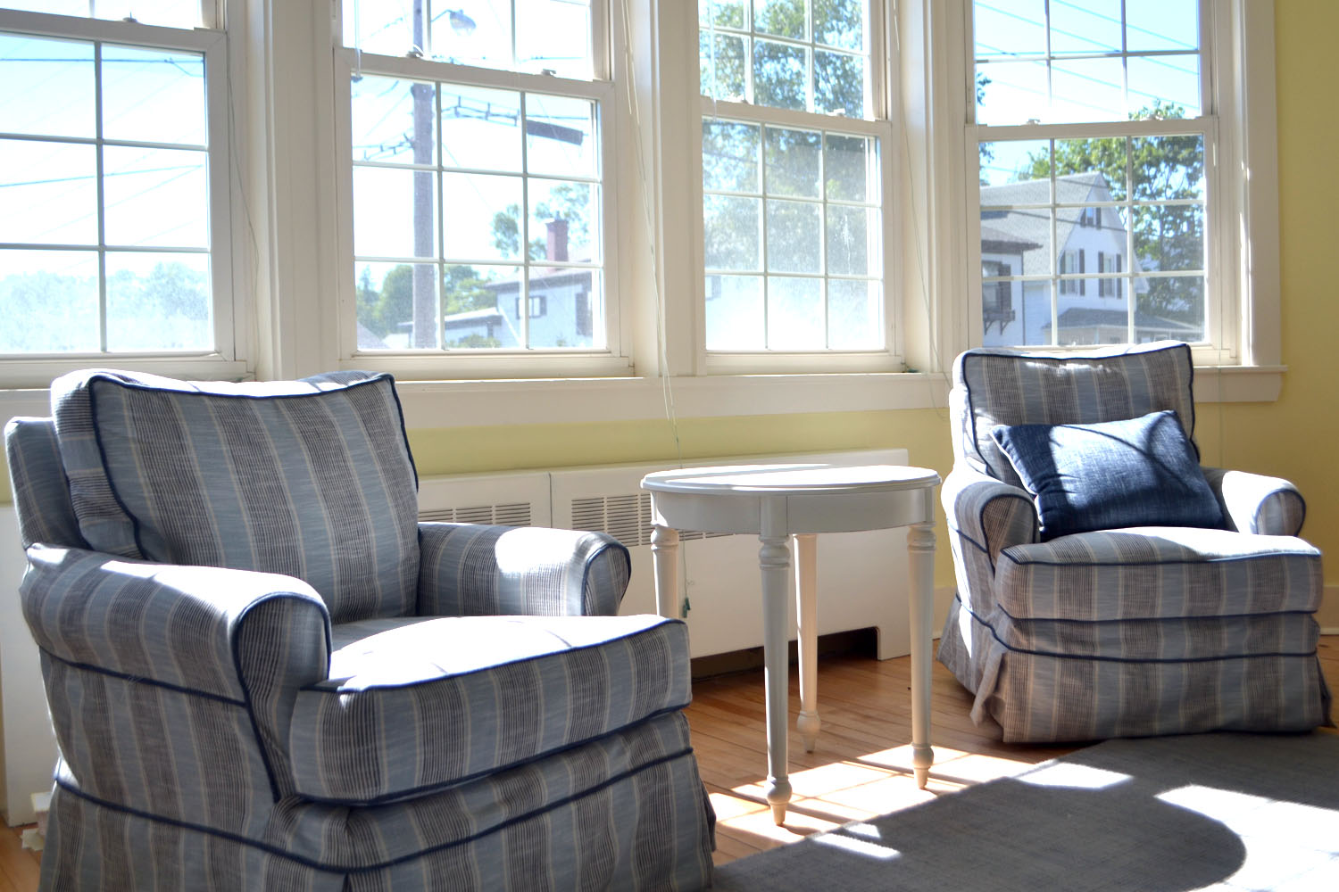 """One of the more noticeable projects nearing completion at The Neighborhood House is the revamped """"Parady Room,"""" which serves as a spot for guests to sit and relax as well as area groups to hold informal meetings and small gatherings."""