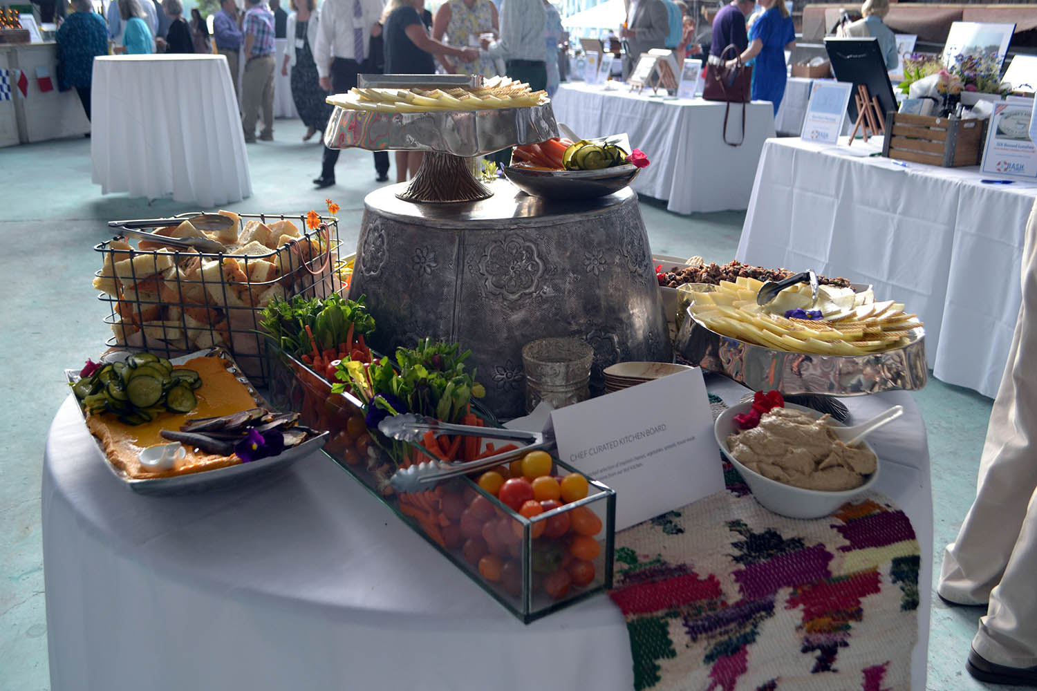 "Between passed appetizers, several creatively displayed stations, and everyone's favorite ""zeppole"" for dessert, the offerings from Bar Harbor Catering Co. were a hit…"