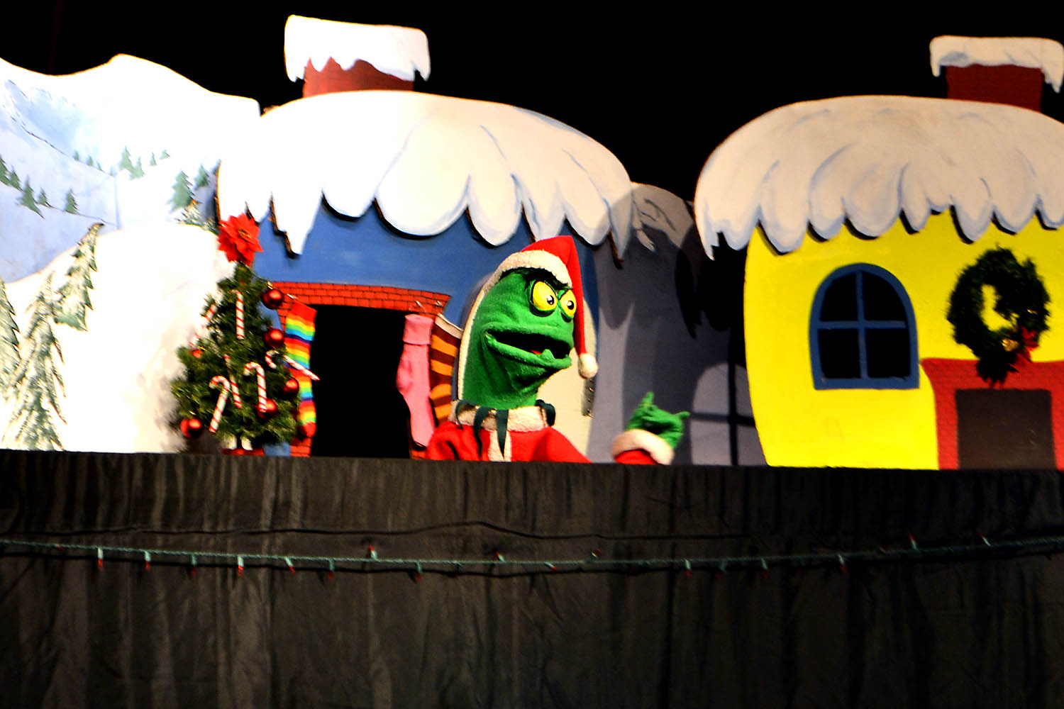 The Grinch, performed by the Frogtown Mountain Puppeteers