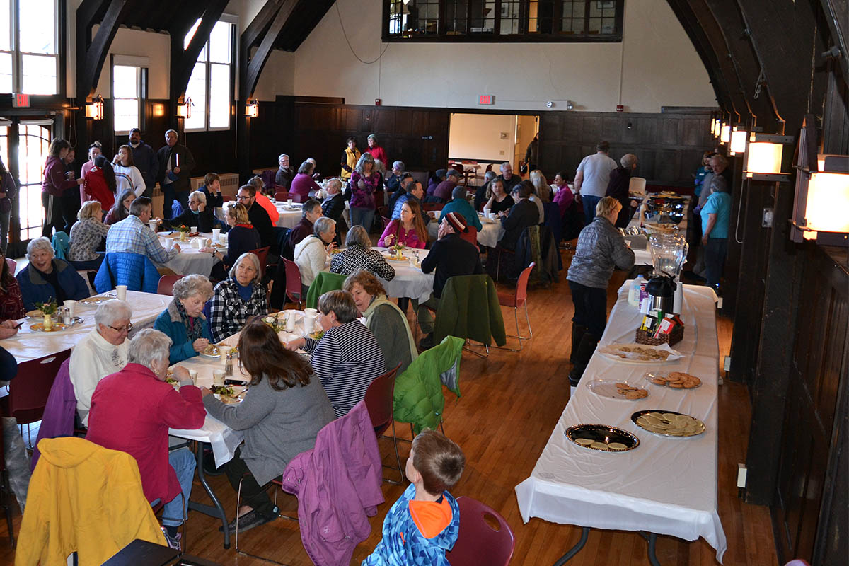 The Great Hall filled quickly, welcoming about 140 guests for lunch over the course of the afternoon.