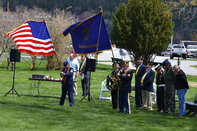 Members of American Legion Post 103 held a Memorial Day ceremony at the Joseph Musetti Veterans Memorial