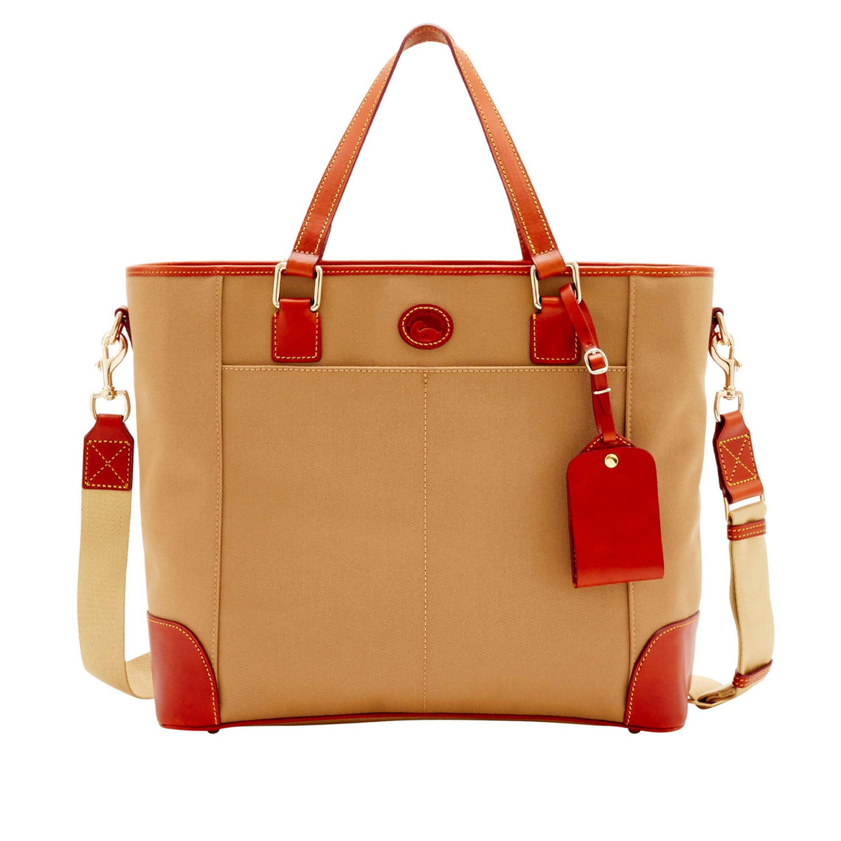 Dooney & Bourke Newport Tote - Contributed by D&B, this durable bag is crafted from Cabriolet cloth and features vachetta leather trim. Truly a style that is timeless.Retail Value: $358.00