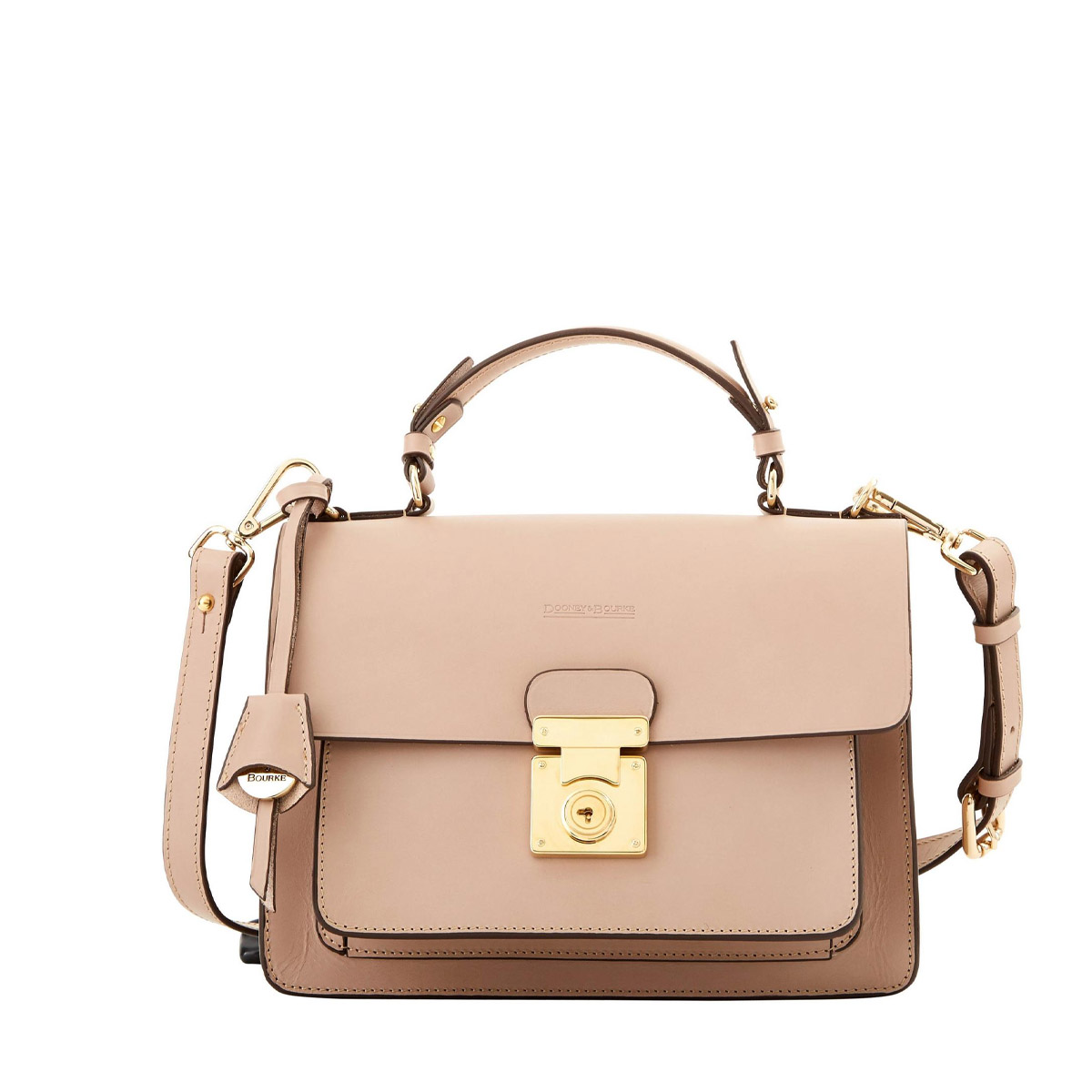 Dooney & Bourke Adele Handbag - Designed in America and crafted in Italy, the Adele purse is generously provided by D&B. Featuring adjustable and detachable straps and a magnetic closure. A convenient sized bag perfect for anyone on the go.Retail Value: $595.00