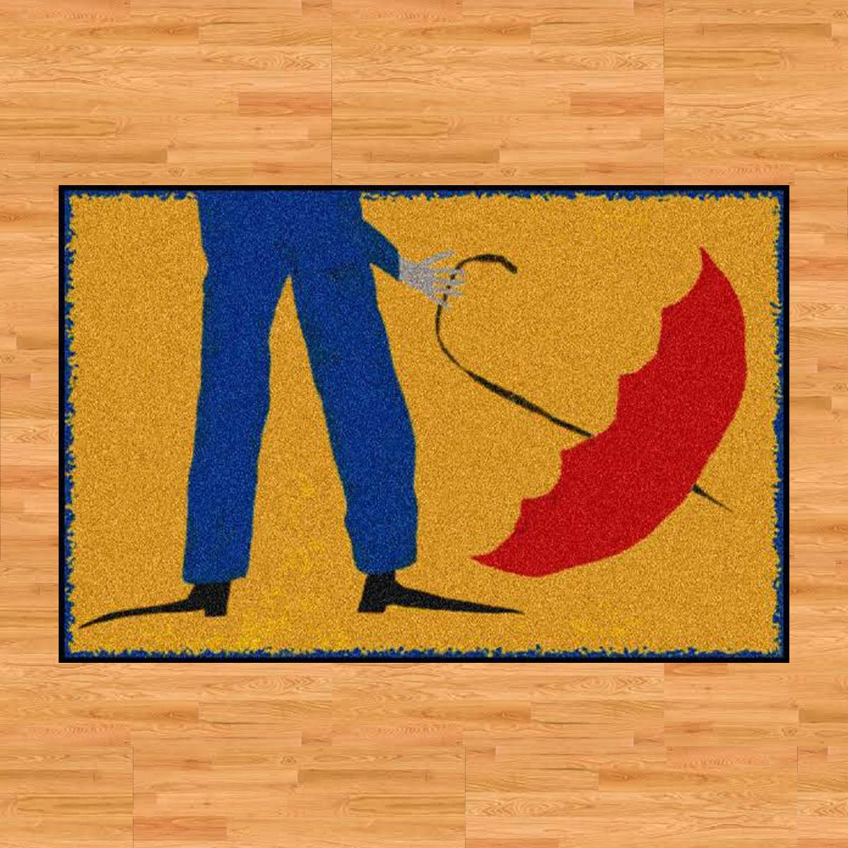 """David Milliken Rug - """"Invention Umbrella"""" is a 4'x6' rubber backed mat designed by David Milliken. Part of his """"Whimsical"""" collection, this rug is certainly just that.Retail Value: $272.00"""