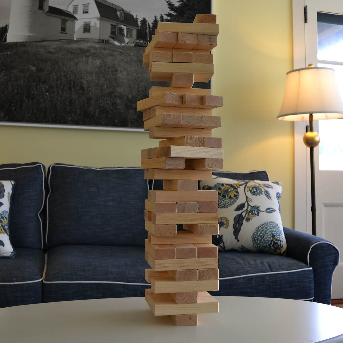 Oversized Toppling Timbers Game - This classic block game has a twist— each block is over 7 in. long, and the timber tower can grow to be more than FIVE FEET! In the backyard or at camp, this fun filled game will be entertaining for players of all ages.Retail Value: $70.00