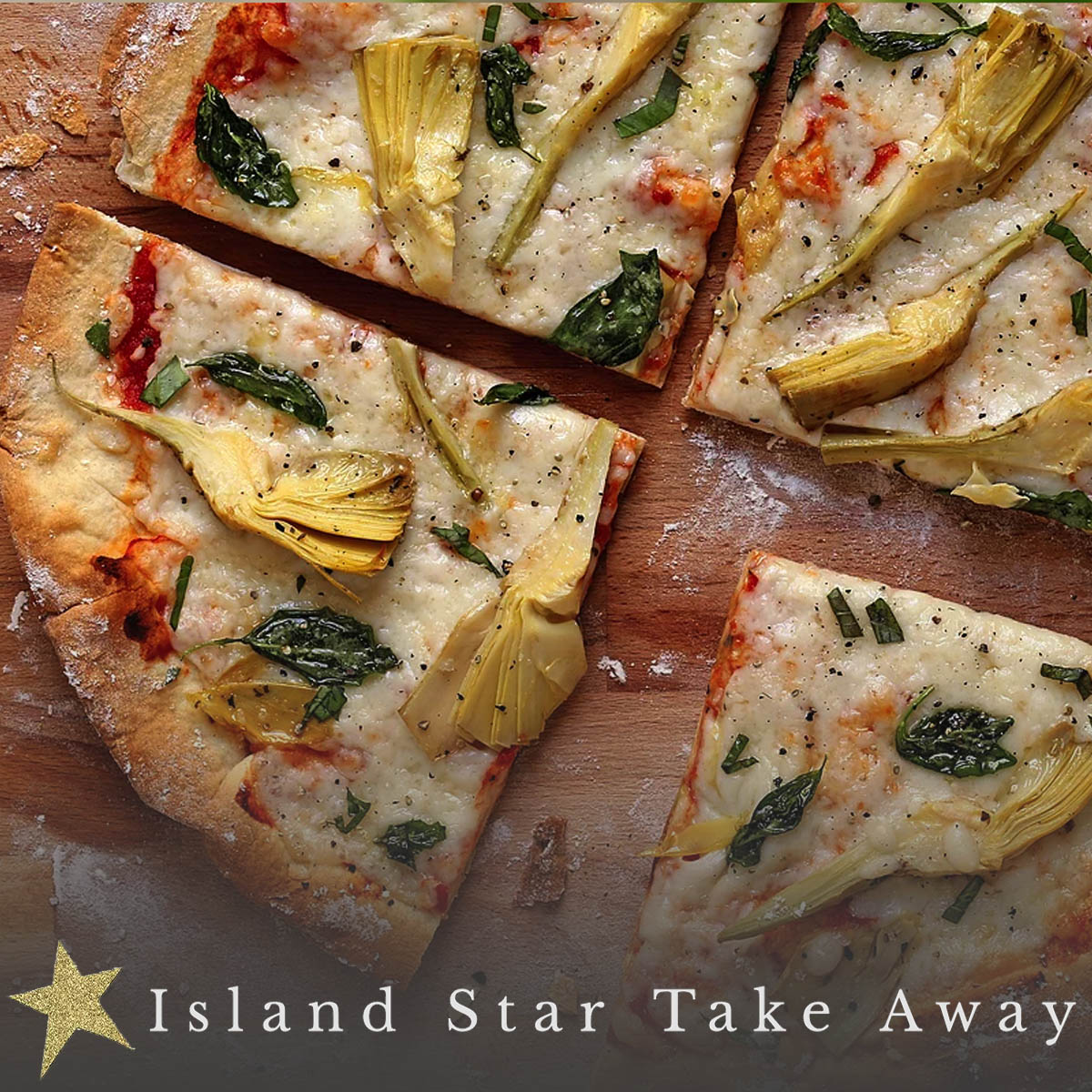 Pizza Party Basket - Want an easy way to entertain or just want a delicious dinner without the hassle? Chef Emily Damon of Island Star Take Away in Town Hill has got you covered! This gift certificate for TEN gourmet pizzas can be redeemed any time July through September. See why Island Star has been such a hit all year 'round!Retail Value: $200.00