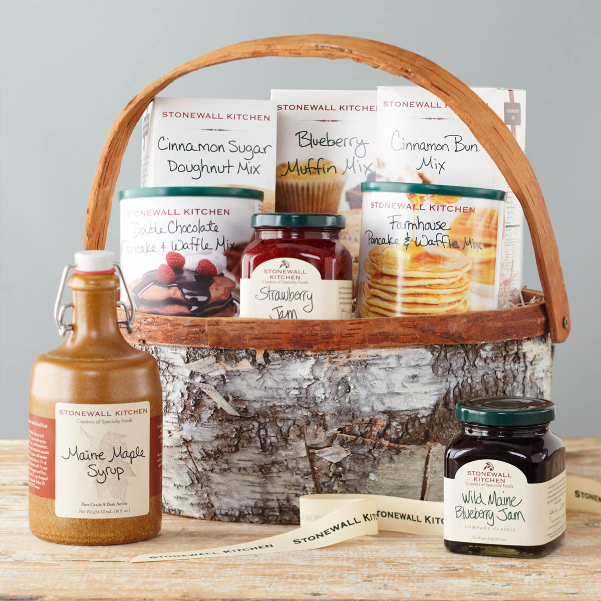"Family Breakfast Basket - The Haskell Family has generously contributed this ""Family Breakfast"" gift basket from Maine's own Stonewall Kitchen. Pour yourself a cup of coffee and wow your family or guests with a gourmet breakfast they won't forget.Retail Value: $95.00"