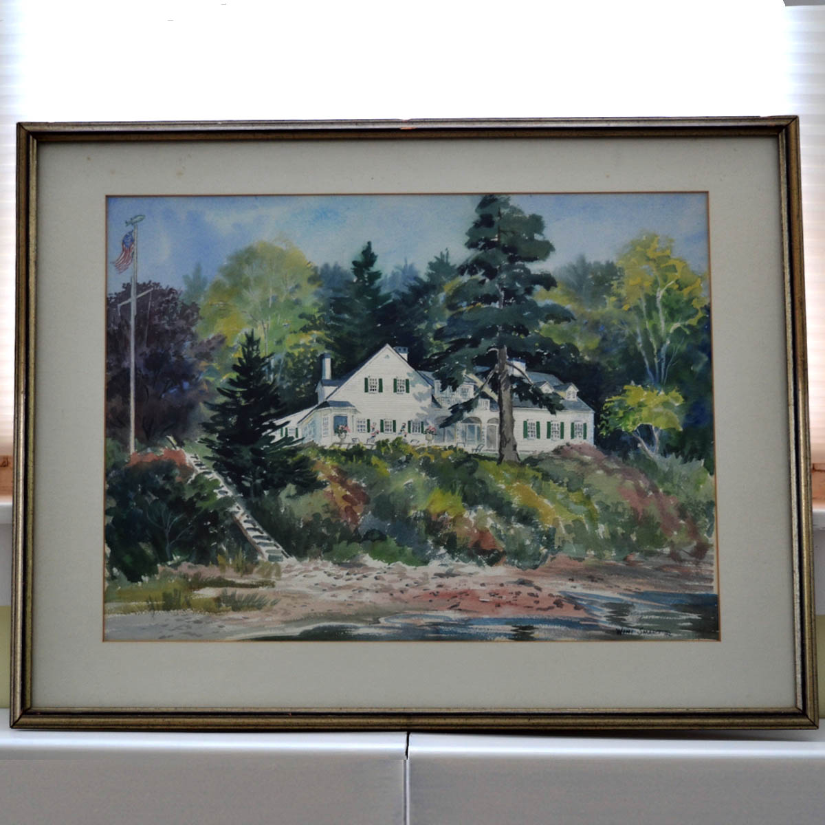 Winnie Smart Watercolor - An anonymous donor generously contributed this original watercolor by celebrated artist, Winnie Smart. This large work would be the centerpiece of any wall in your home, and a worthy addition for any collector or lover of Winnie's work.