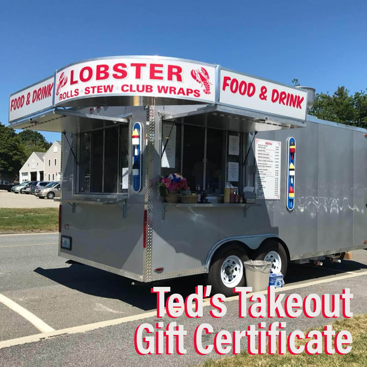 Ted's Takeout Certificate - Ted's takeout has generously provided this $50.00 certificate. Perfect to grab a delicious lunch on-the-go this busy summer season, or treat yourself after a morning on the trail. From classic lobster rolls to wraps, ice cream, and more— there's something for everyone at Ted's!Retail Value: $50.00