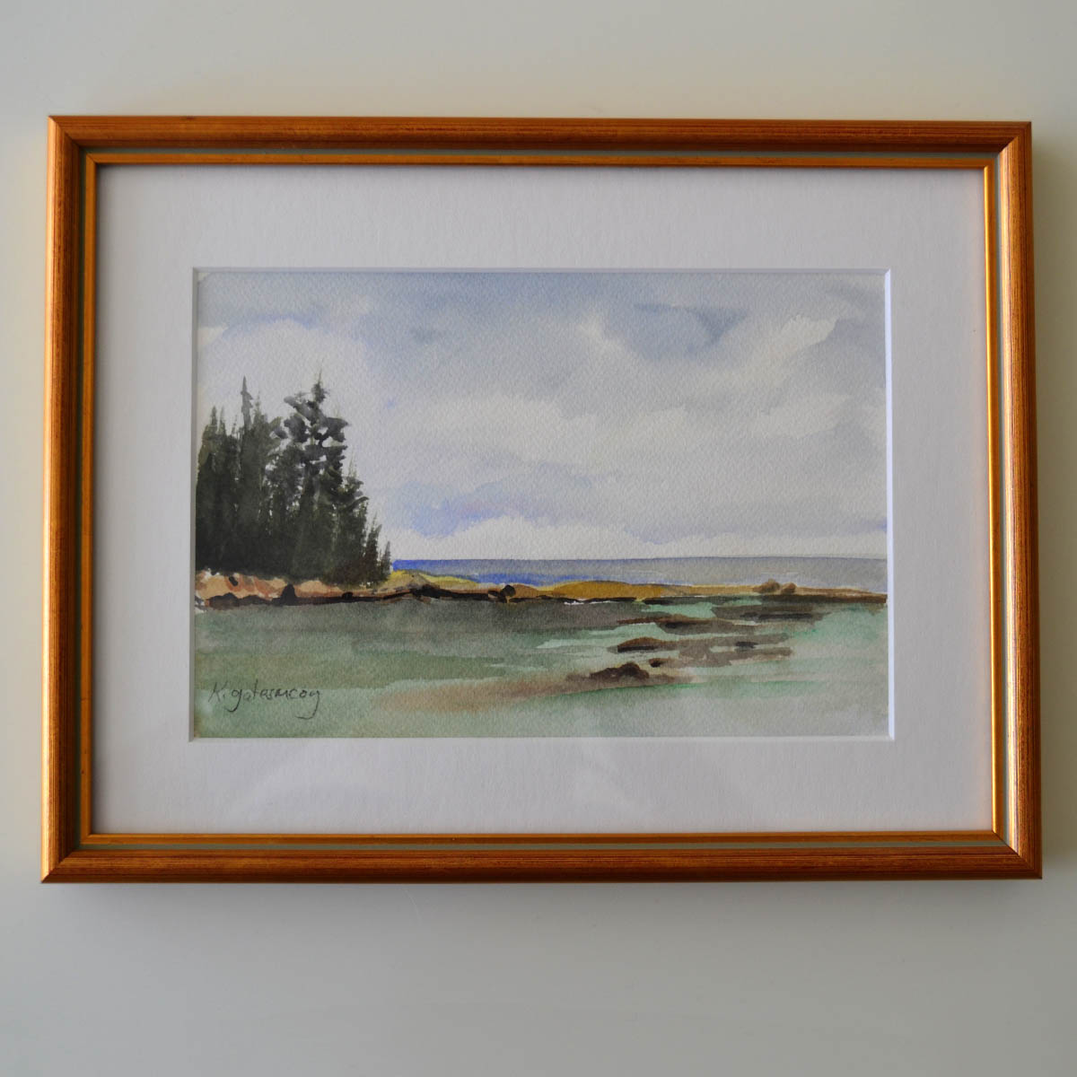 Framed Watercolor - Artist and Neighborhood House Board member Kathe Gates McCoy generously provided this original watercolor depicting the tidal waters surrounding our island home. This understated but beautiful piece would be a worthy addition to any home.Value: $200.00