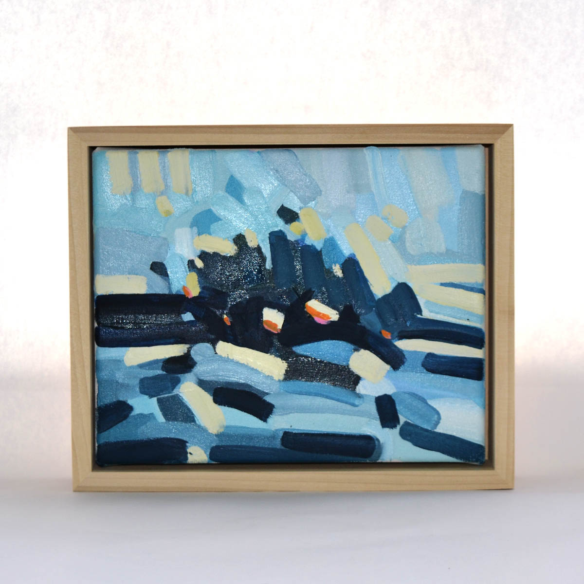 Mallie Pratt Painting - Artist Mallie Loring Pratt has generously provided this framed oil on canvas painting. Vibrant and bold, this abstract work would be a lovely addition to anyone's collection.Value: $350.00