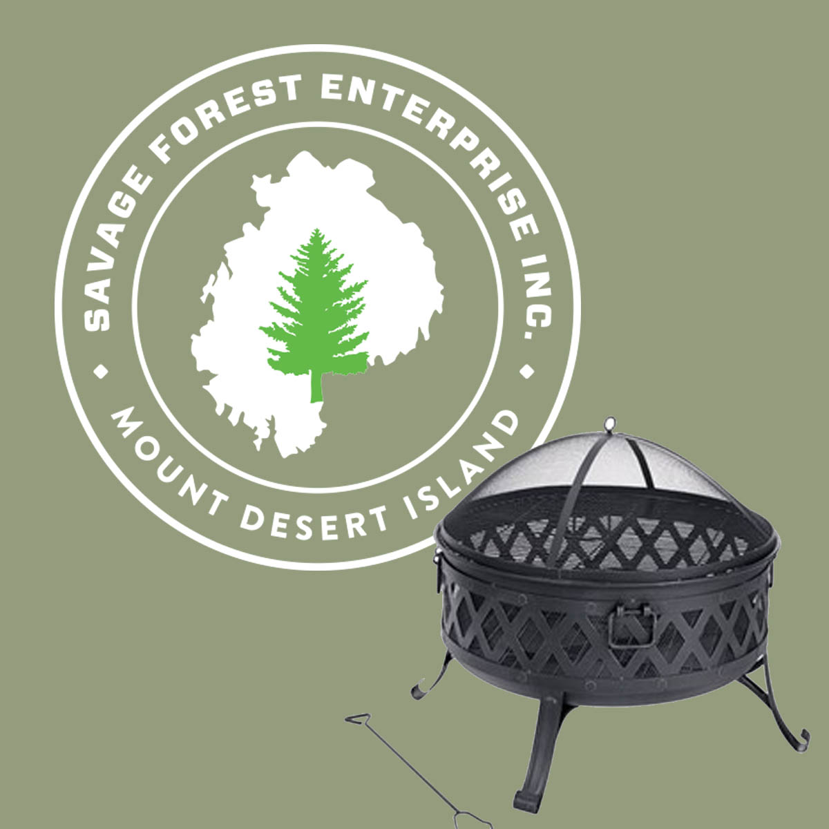 """Half Cord of Firewood & Fire Pit - Savage Forest Enterprise and Kay Graves teamed up to generously provide this unique """"basket."""" Not only will you get a backyard fire pit perfect for outdoor gatherings, but you'll also get a half cord of firewood delivered anywhere on MDI!Retail Value:  $450.00"""