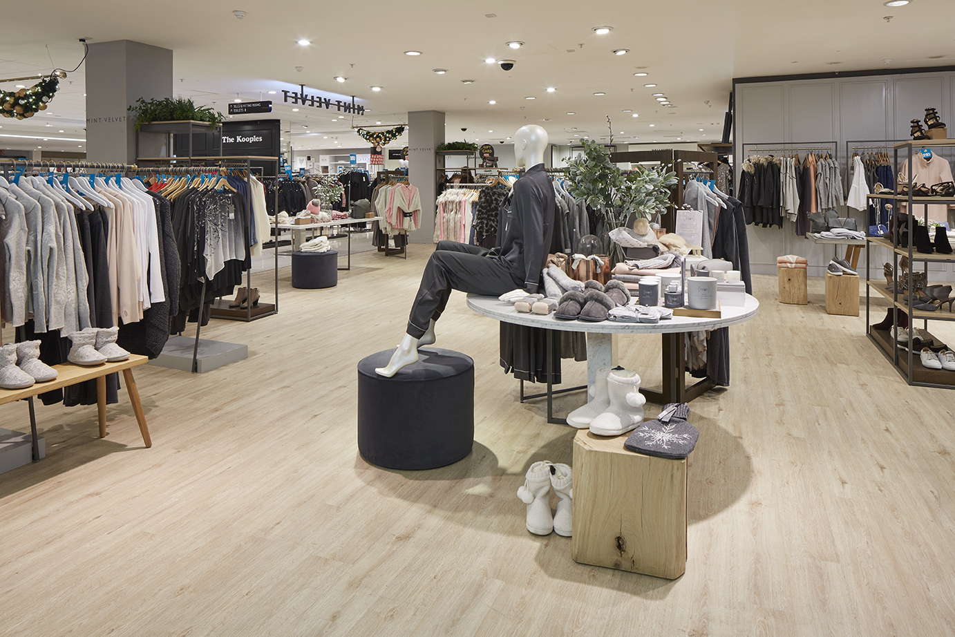 RETAINED ITS BEAUTIFUL LOOK IN ALL HIGH TRAFFIC STORE AREAS