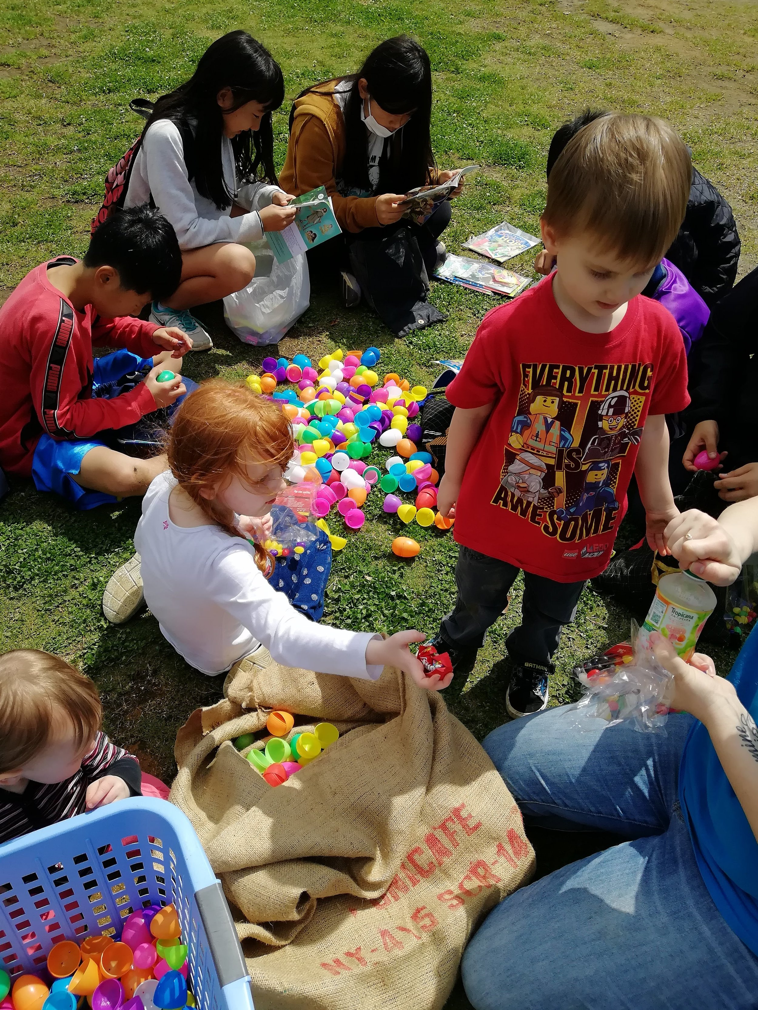 One of the special moments from the Easter Picnic, seeing children from the community reading about Jesus, maybe for the first time.