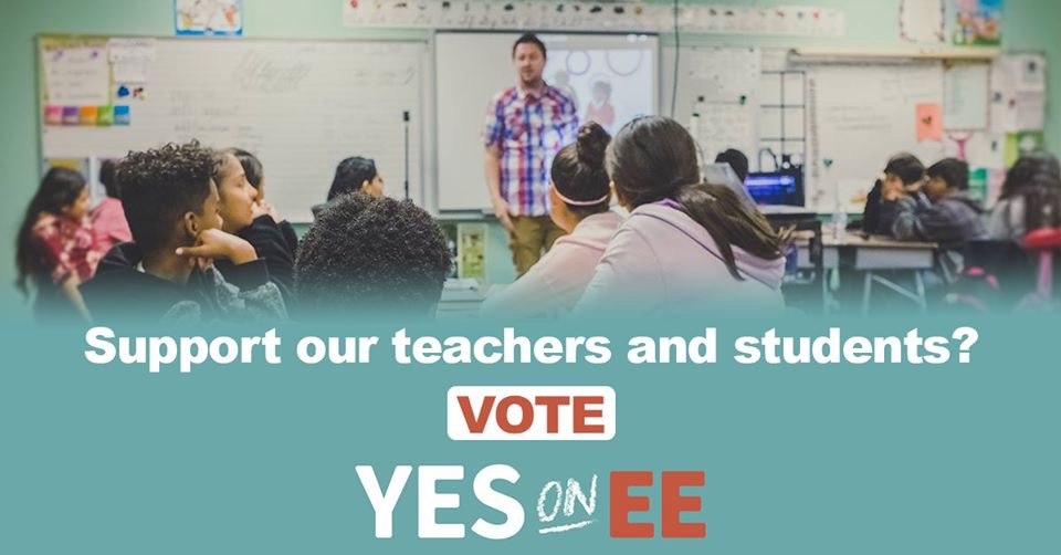 Vote Yes on EE - Election Day is only a week away. DNA strongly encourages you to vote Yes On EE when you cast your ballot next Tuesday, June 4th. Measure EE is a crucial investment in our teachers and students!