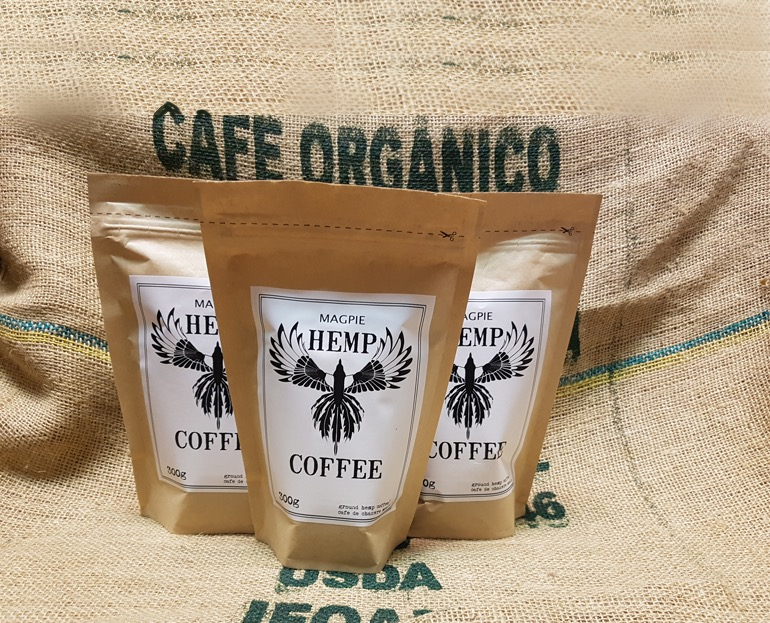 Available now at  magpiehempcoffee.com