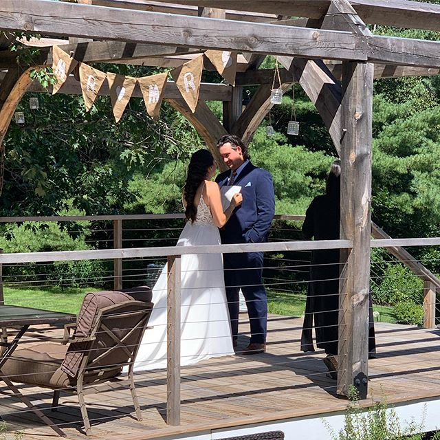 First looks are the sweetest! 🥰  #barnwedding  #beautifuldress  #beechridgebarn #postandbeamporch #firstlookwedding #mainewedding  #soinlove  #lovelove