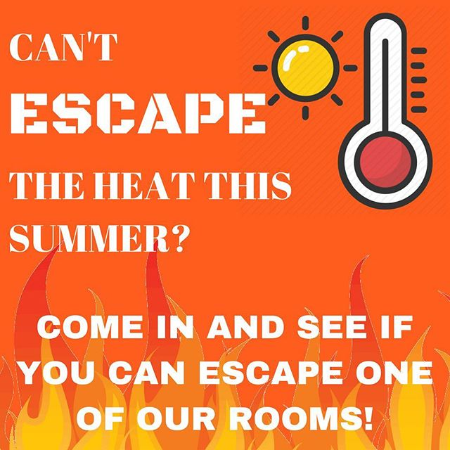 🌴Summer is in full swing here in Chattanooga and we know these summer days get hot ☀️ but don't worry we can help you escape one of our amazing (and air conditioned) rooms! Book now at escapemissionchattanooga.com ! See you soon ☀️ . . . #escape #escaperoom #escaperooms #escapechattanooga #chattanooga #chattanoogatennessee #chattanoogatn #tennessee #escapechatt #downtownchattanooga #northshorechattanooga