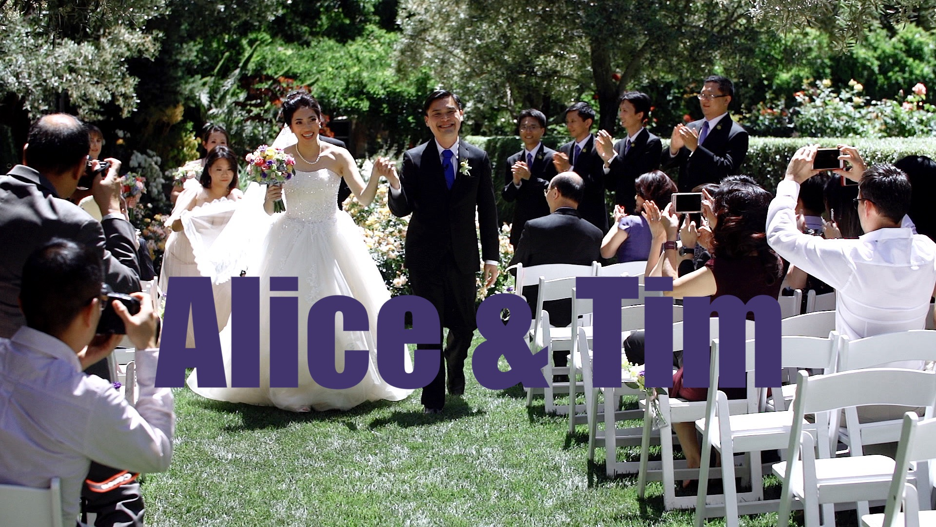 A Wedding at the Allied Arts Guild in Menlo Park.