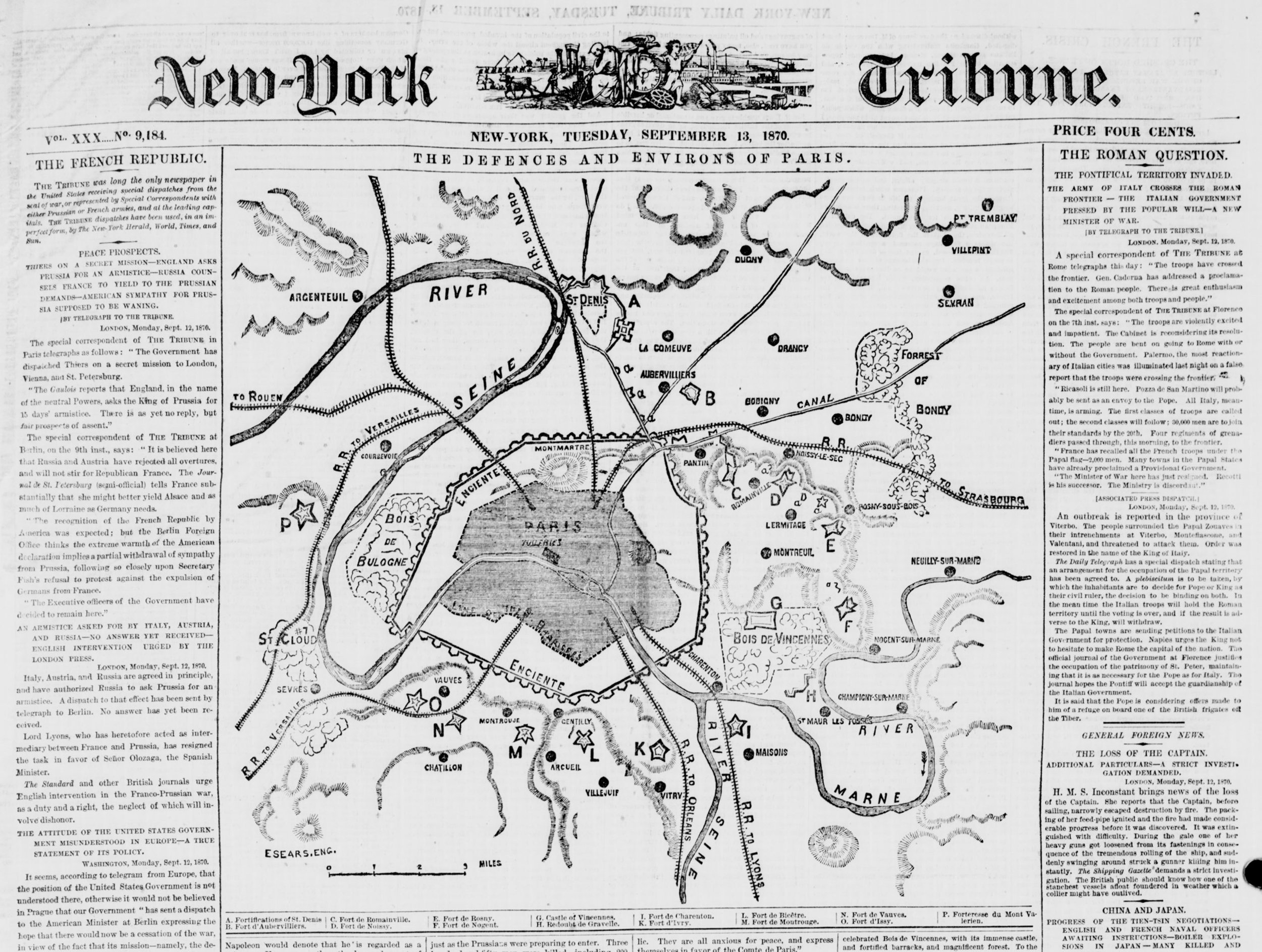 Fig. 2. New York  Tribune  (13 September 1870). From Library of Congress,  Chronicling America .