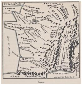 """Hendrik Willem Van Loon, """"France,"""" from  Van Loon's Geography  (1932)."""