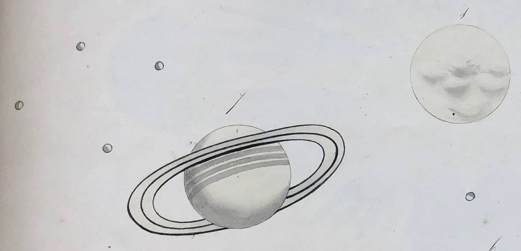 Fig. 2. Saturn and the Sun. Detail of fig. 1
