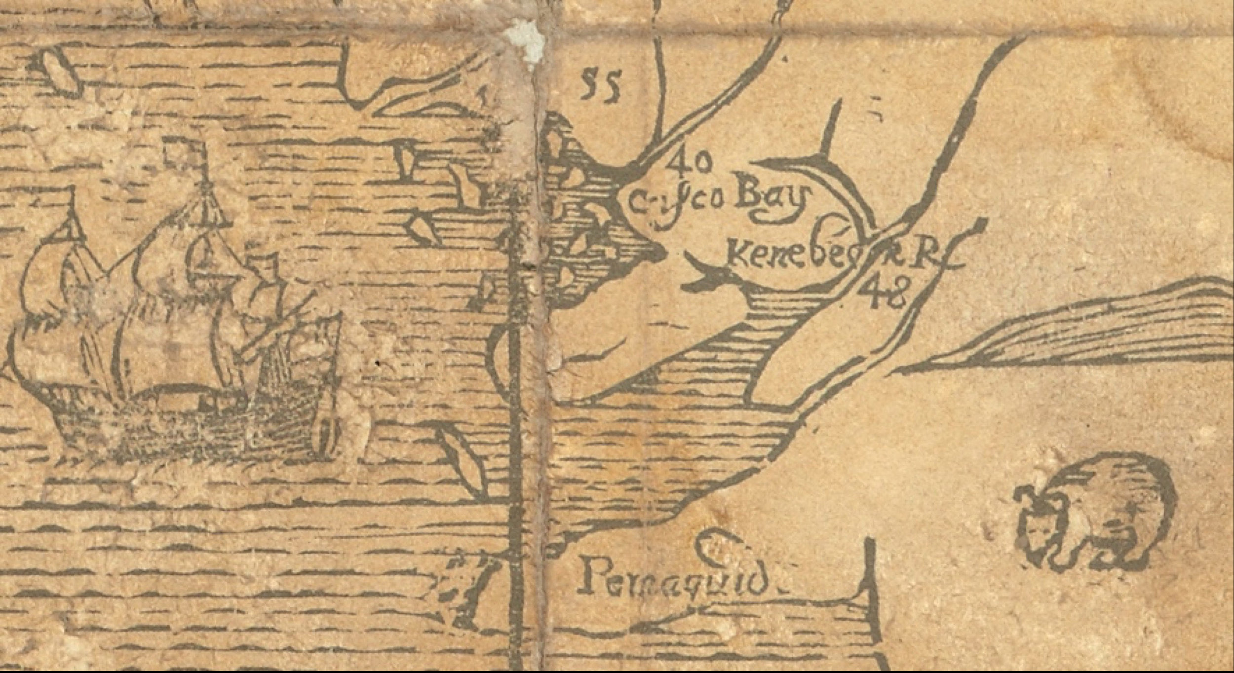 """Detail of the """"White Hills map."""""""
