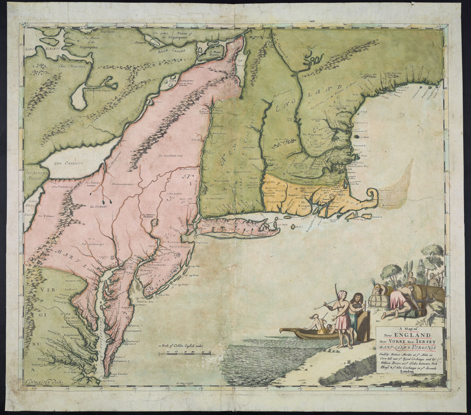 Robert Morden,  A Map of New England New York New Jersey Maryland & Virginia  (London, 1676). Osher Map Library and Smith Center for Cartographic Education, University of Southern Maine (Osher Collection). See http://www.oshermaps.org/map/491.0001