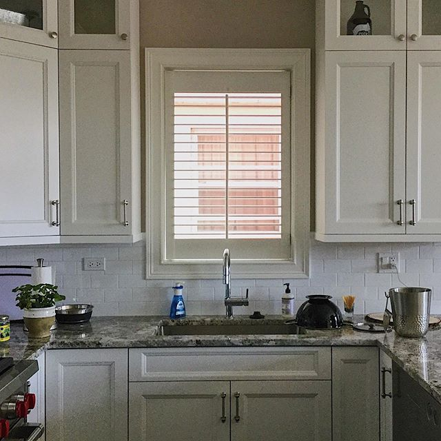 "Nothing finishes off a ""hygge,"" aka cozy, kitchen like custom wood shutters. We can help you with that. . . . . . #woodshutters #wood #shutters #custom #windowtreatments #window #design #designer #designwindowsolutions #makeyourviewashadebetter #chicago #interiordesign #kitchen #kitchendesign #designideas #kitchendesignideas #hygge #cozy"