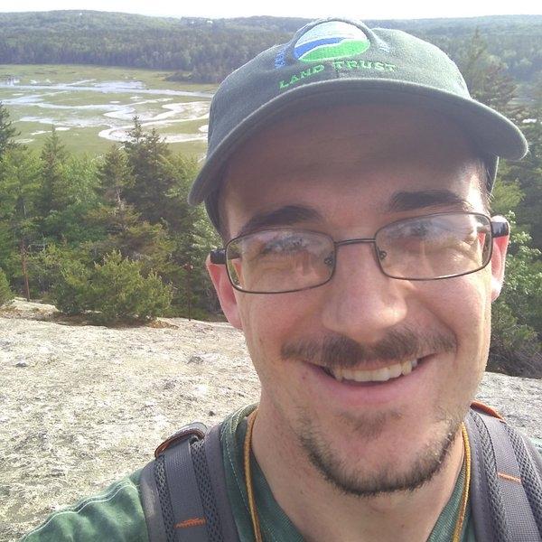 Trent on Morse Mountain in Phippsburg.