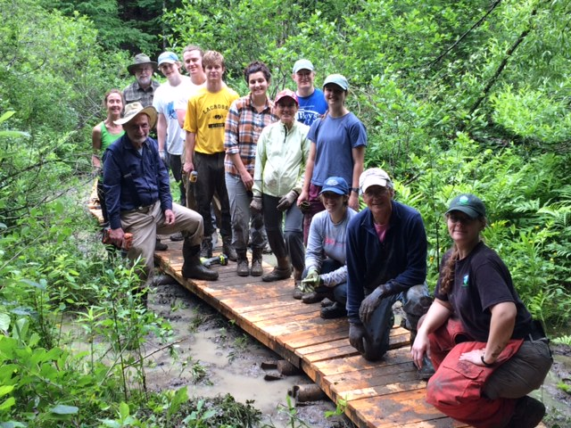 Volunteers and summer staff helped to build trails and bridges for all to enjoy!