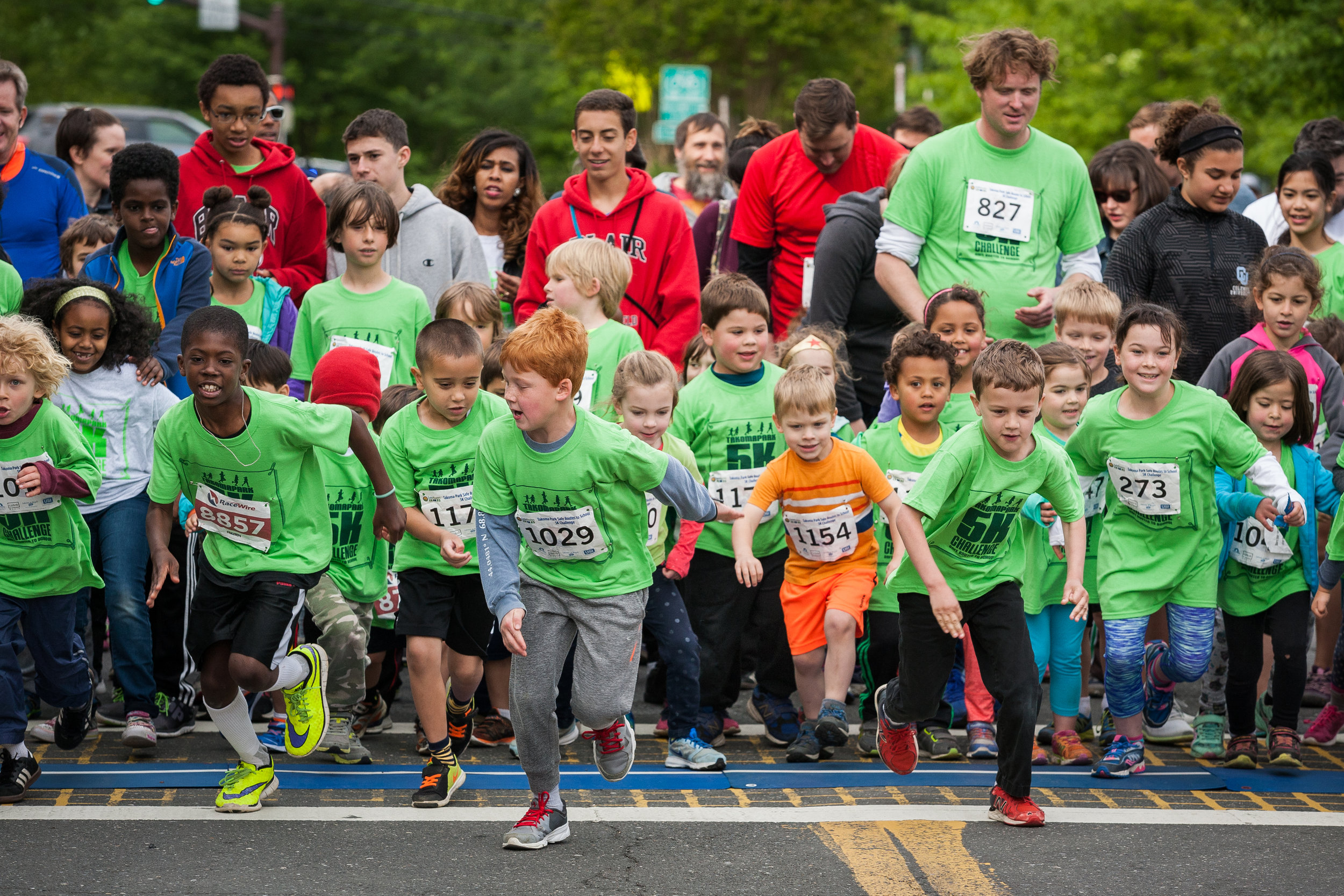 Kids have the option of doing the 5K, the one mile timed fun run or even the quarter mile youth run, if they are small.