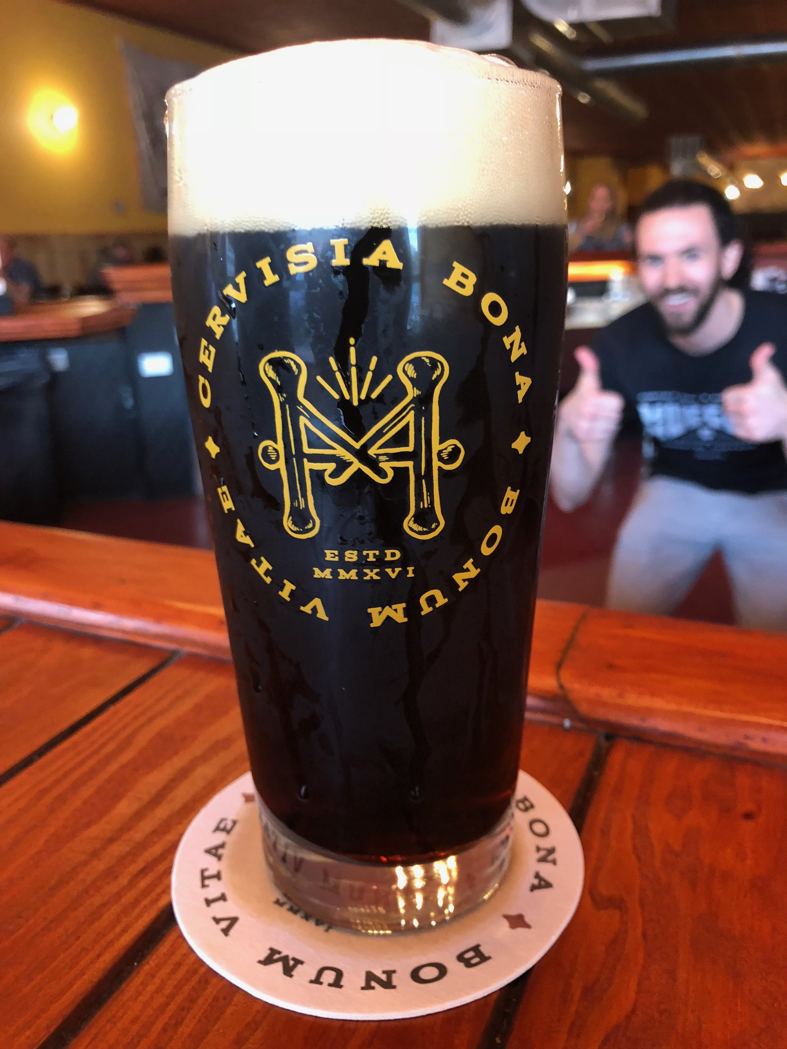 - Amor Fati Ruby Porter 5.3% ABV 26 IBUChocolate malt and double roasted sweet crystal malts. Late addition Golding hops. Love of Fate is complex and embracing.