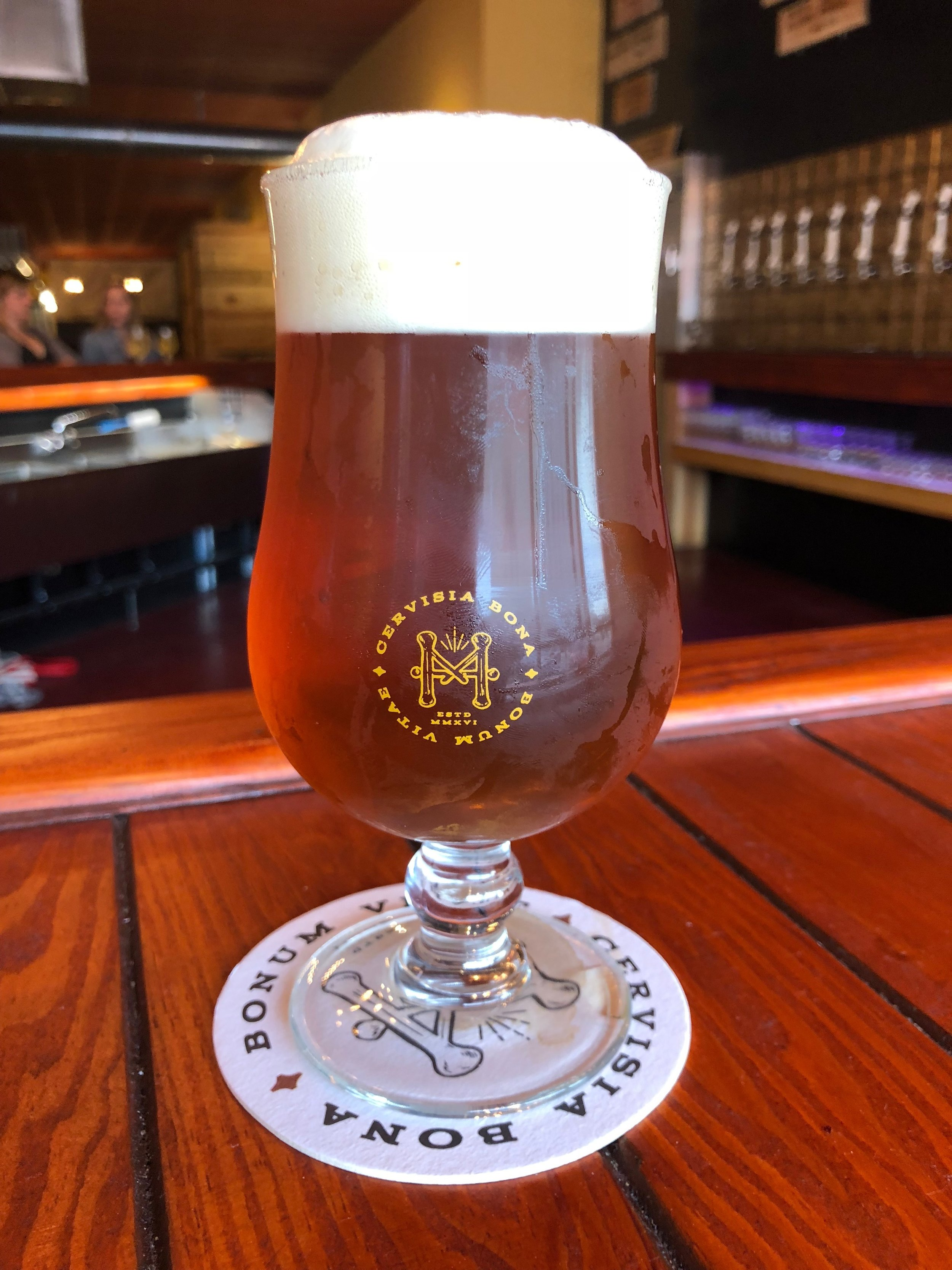 - Loop-U-Lunatic Imperial IPA 7.8% ABV 81 IBUPale and crystal malts give a west coast throwback IPA. Dank hops balances the sweet medium body and dries out the palette. Always brewed under the last full moon and dry hopped Waning Gibbous.
