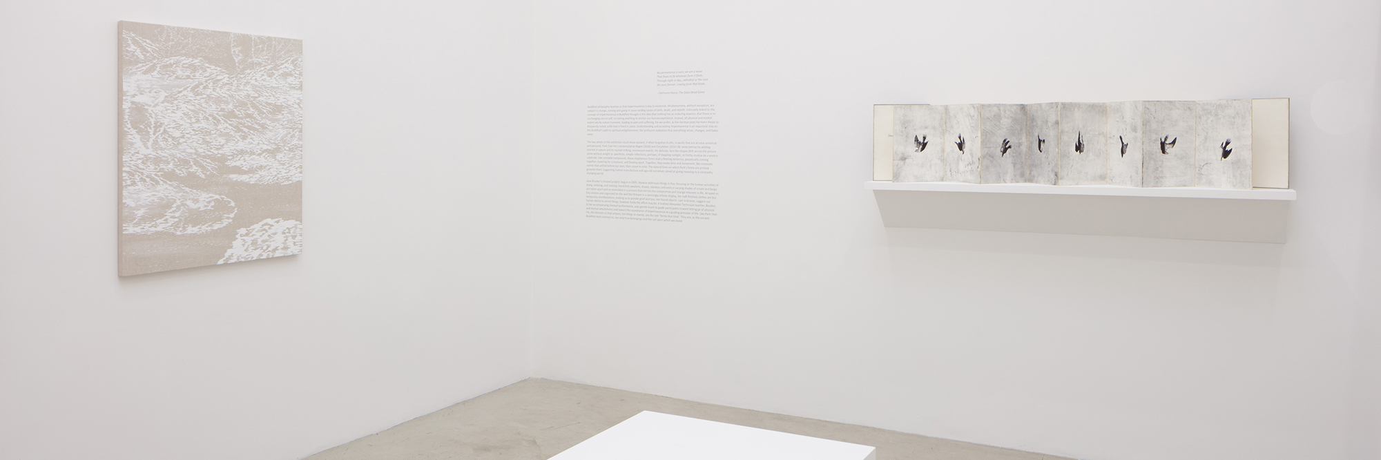 NO PERMANENCE IS OURS   | Jane Brucker, Park Chel Ho | Jan 5 — Feb 2, 2019 |  press release  |  catalogue