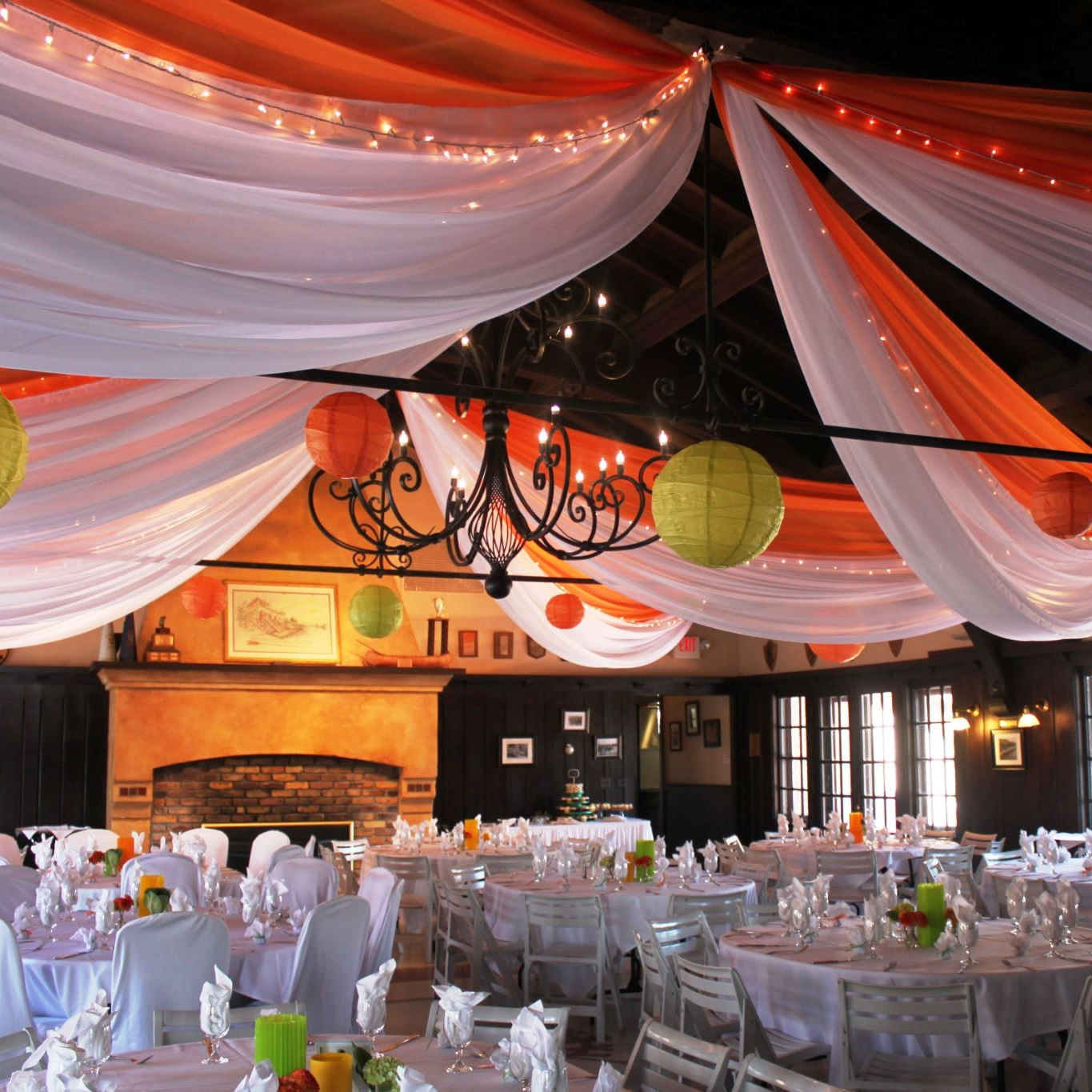 Colored Ceiling Draping Services