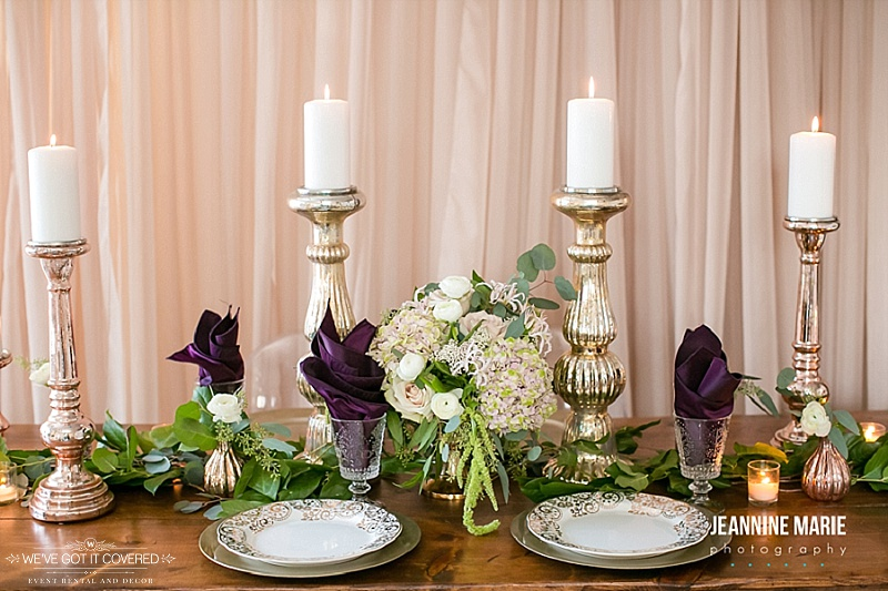 Photography:  Jeannine Marie Photography   Floral:  Bel Fiore   Coordination:  Sixpence Wedding & Event Planning