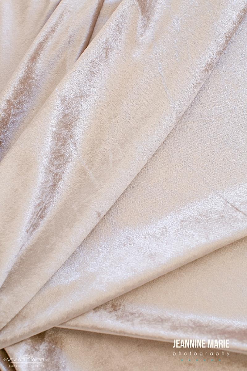 Velvet linen for wedding rental