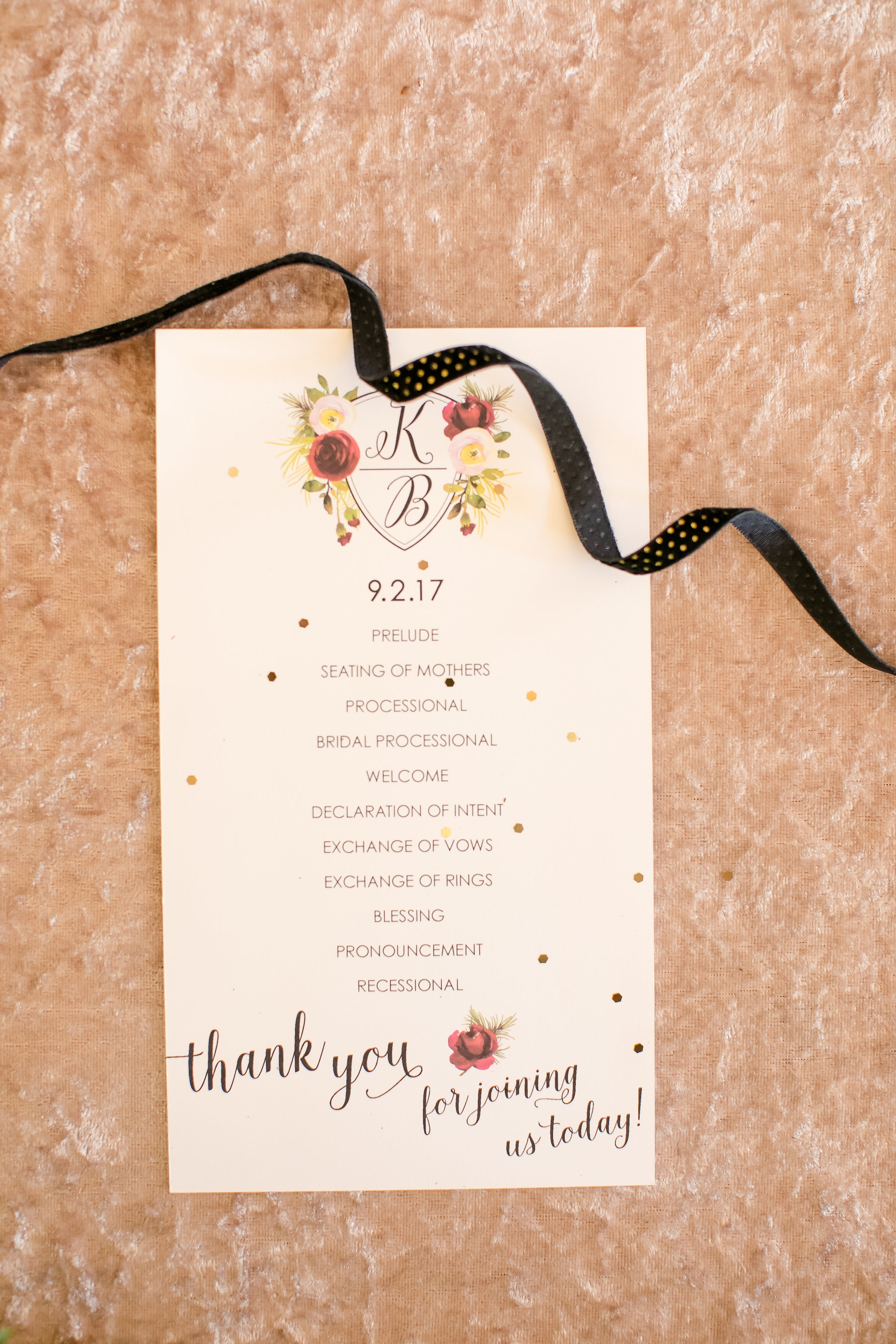 Simple stationary with gold and burgundy acccents