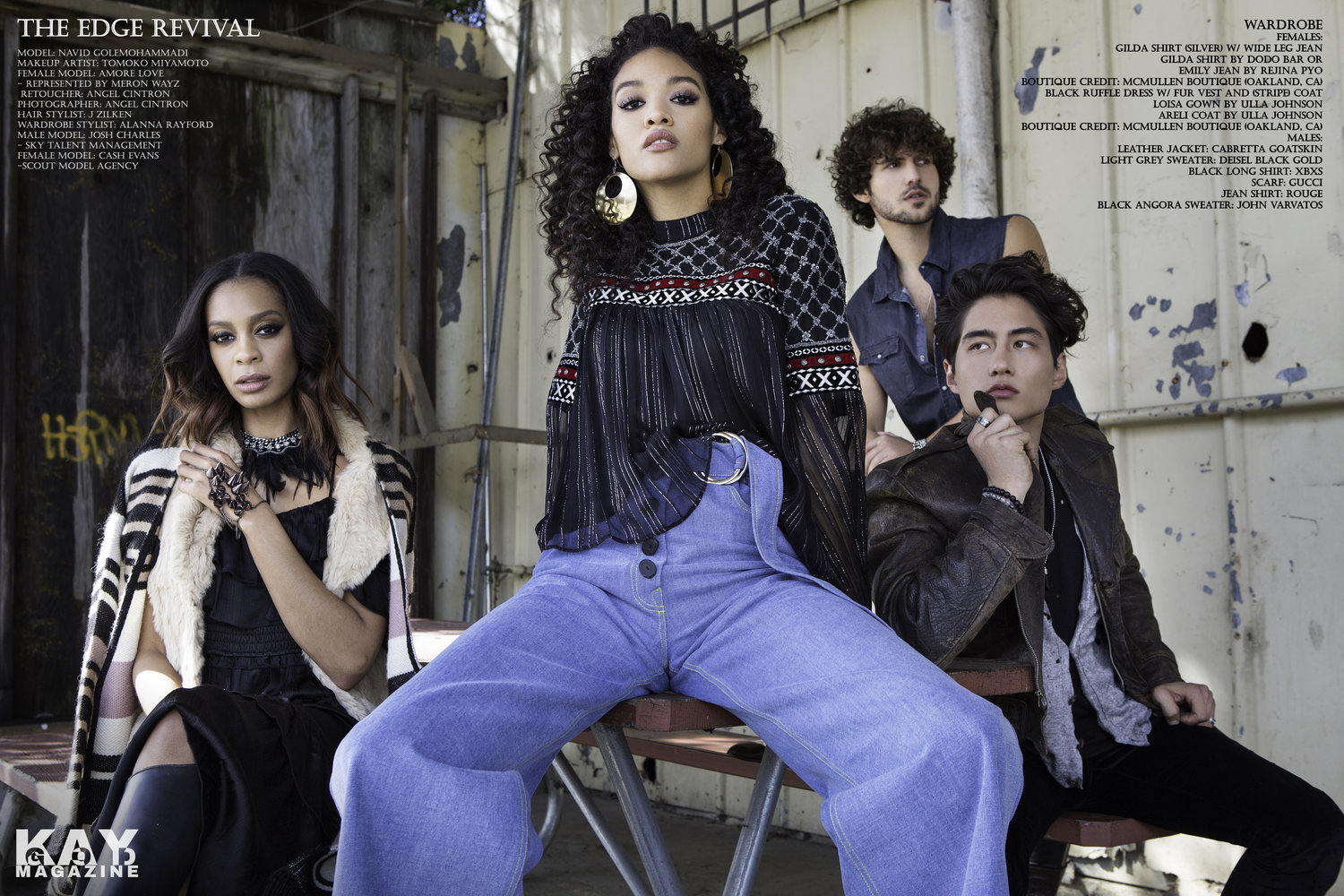 Angel Cintron captures a fantasy of edge in this exclusive Fall 18' fashion editorial. - CLICK TO VIEW