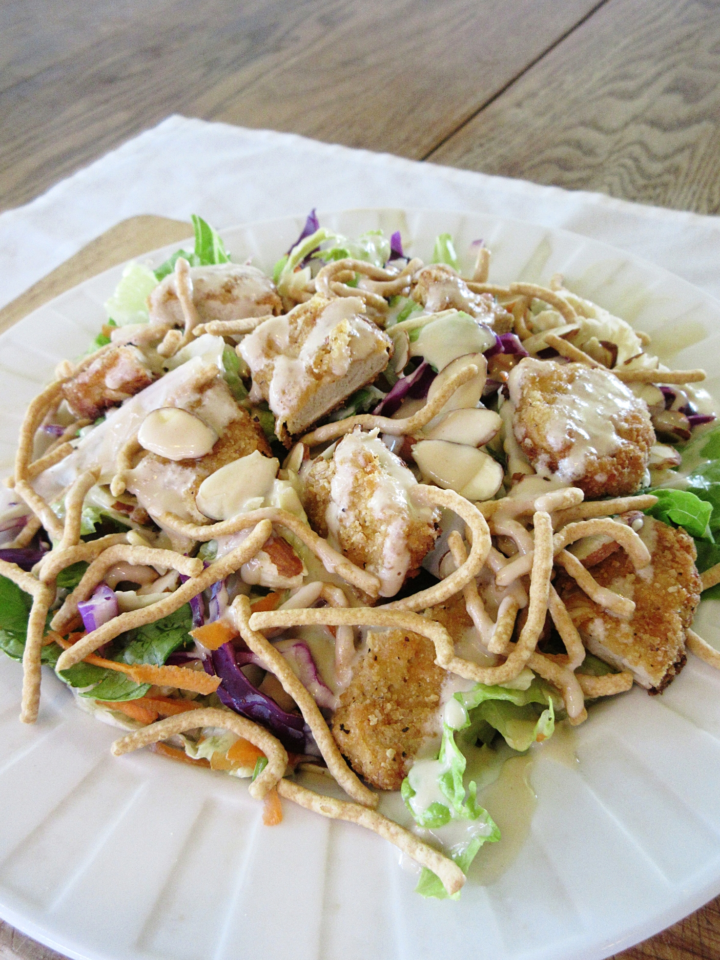 applebee's oriental chicken salad vegan copycat recipe